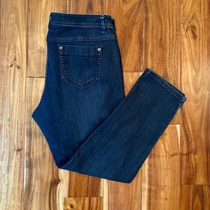 J.Jill Authentic Fit Slim Ankle Crop Jeans, Sz12P